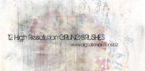12 Free Grunge Photoshop Brushes