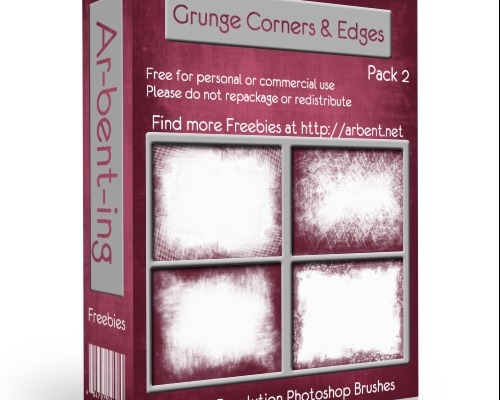 15 Free brushes Grunges Corners and Edges