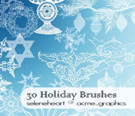 30 Holiday Christmas Brushes