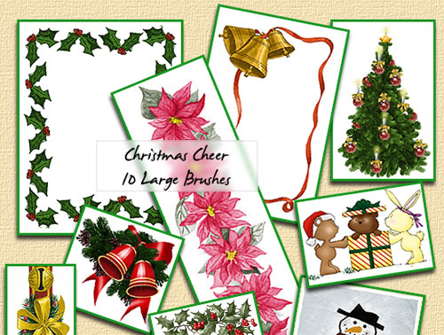Christmas Cheer Brushes