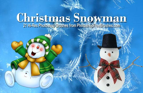 Christmas Snowman Brushes