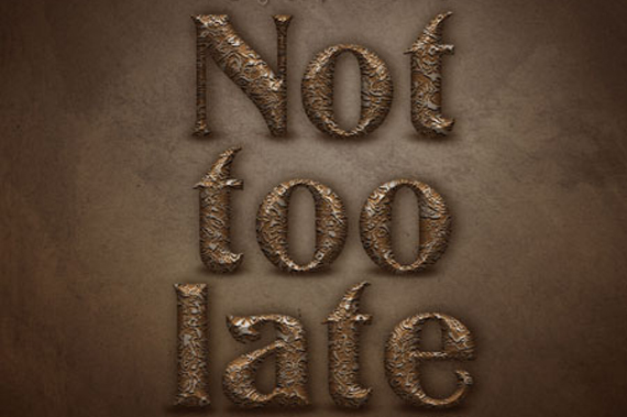Create Old Decorated Metal Text Effect Photoshop