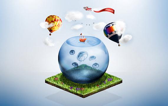 Create a Fantasy Miniature World in Photoshop
