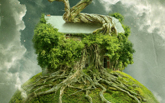 Create a Floating Over-Grown Tree House in Photoshop