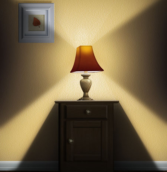 Create a Still-Life Lamp, Nightstand, and Picture Frame