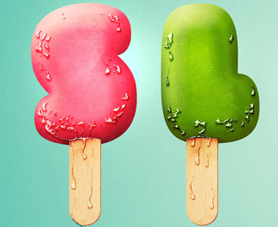 Create an Ice Cream Type Treatment Photoshop Tutorial