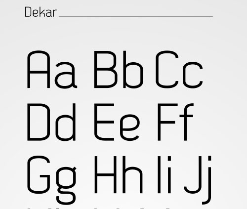 Dekar Download Professional Free Light Fonts of 2011