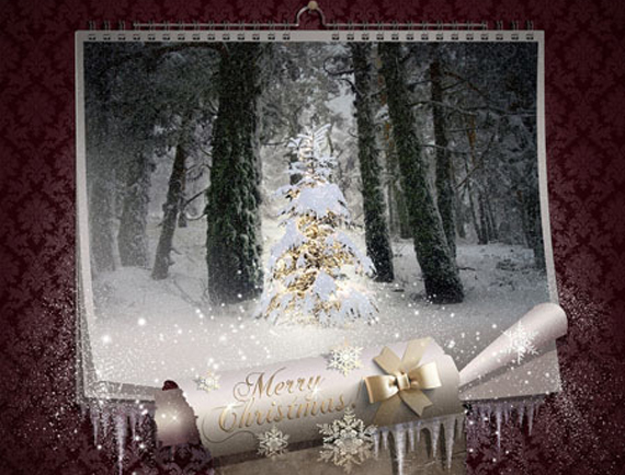 Fairy Christmas Night-Magic Wall Calendar Photoshop