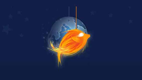 Fire fish Mascot