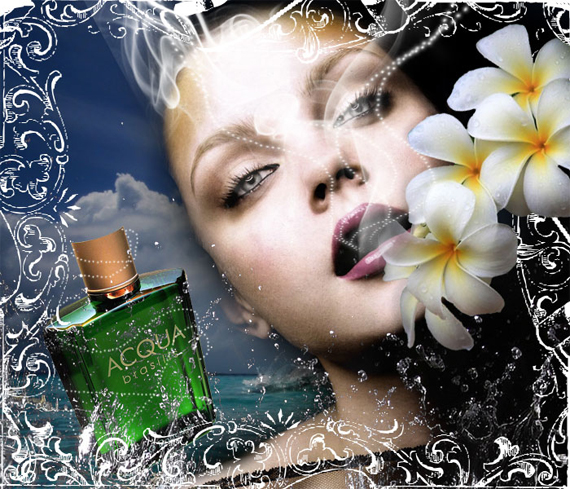 French Perfume Advert Poster