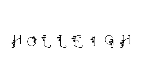 HolLeigh Caps Christmas Free Font