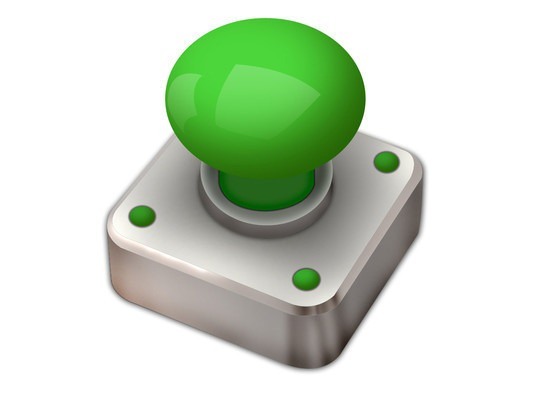 How To Create A Green Button Isolated