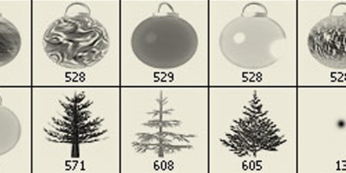 Jenn B's Christmas Ornament Brushes for Photoshop