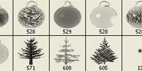 Jenn B's Christmas Ornament Brushes for Photoshop