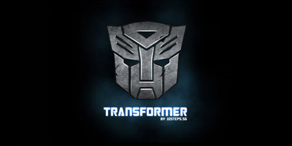 Making of Metallic Transformers Logo