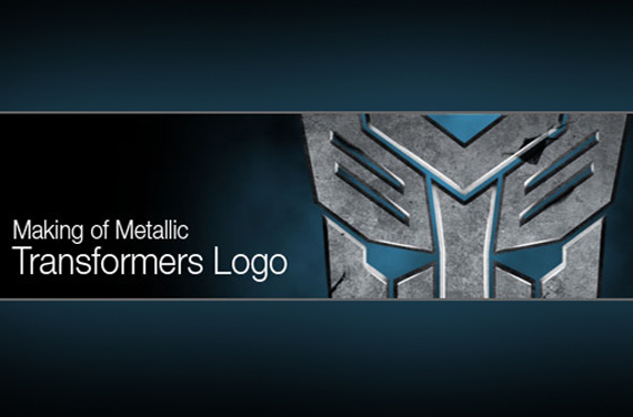 Making the Metallic Transformers Logo