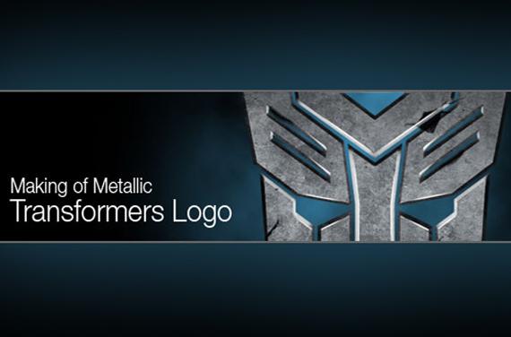 Making the Metallic Transformers Logo