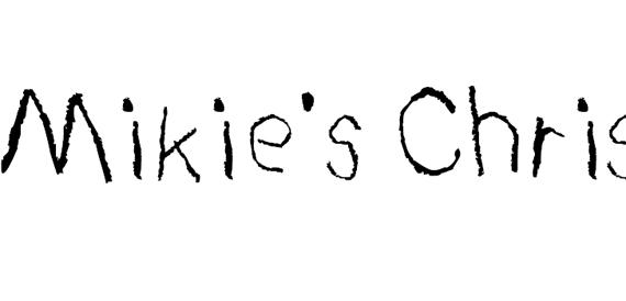 Mikie Christmas List Christmas Free Font