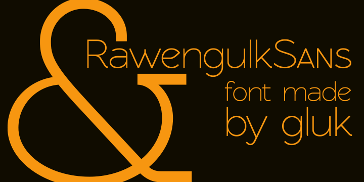 RawengulkSans Download Professional Free Light Fonts of 2011