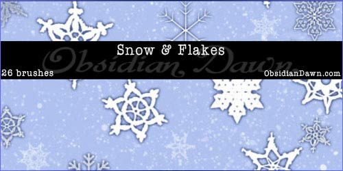 Snow-&-Snowflakes-PS-Brushes