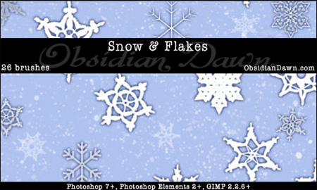 Snow and Snowflakes Photoshop Brushes