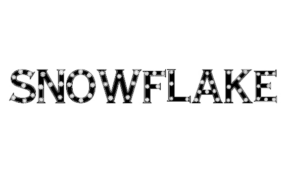 Snowflake Letters Christmas Free Font