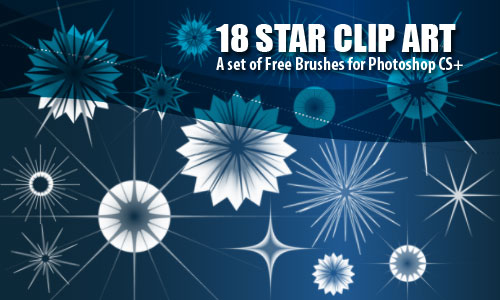 Star Clip Art Christmas Brushes