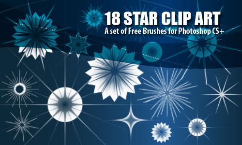 Star Clip Art Christmas Brushes
