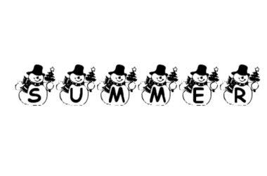 Summer Snowman Christmas Free Font
