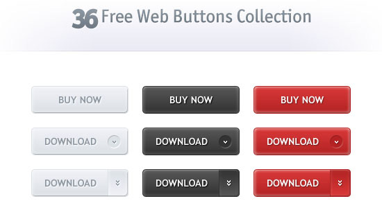 36 Free Web Buttons Collection Free PSD files Download