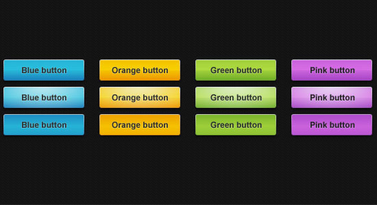 5 Colorful Web Buttons Free PSD files Download