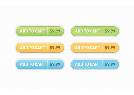 Add to Cart Buttons Free PSD files Download