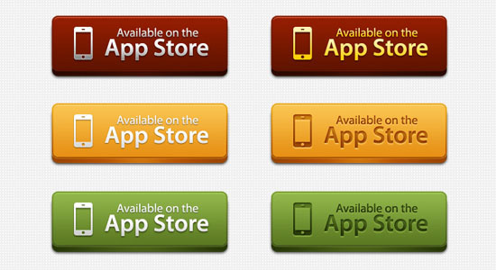 App Store Download Buttons Free PSD files Download