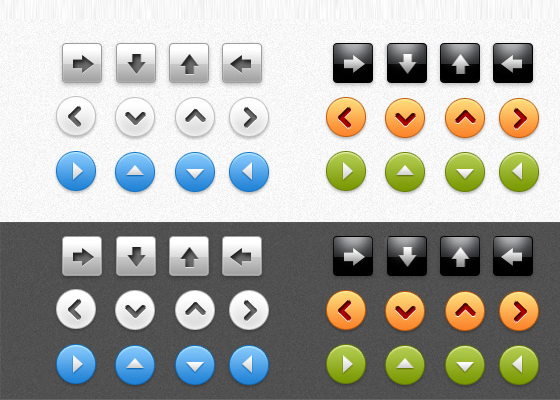 Arrow buttons PSD Free PSD files Download