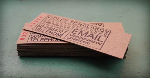 Chipboard Letterpress Cards for your Business