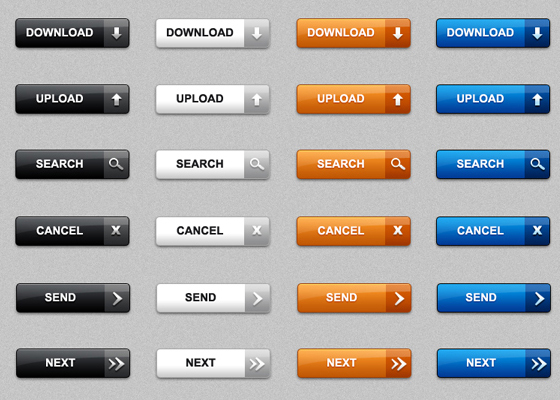 Download Web Buttons Free PSD files Download