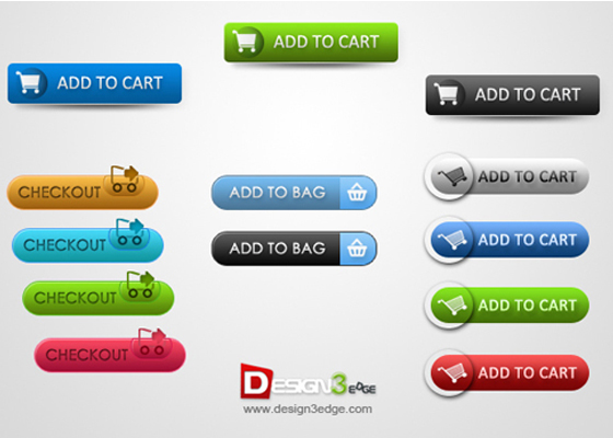 E-Commerce Buttons Free PSD files Download
