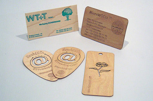 how to make wood business cards
