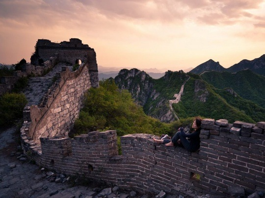 Great Wall, China by Byron Yu