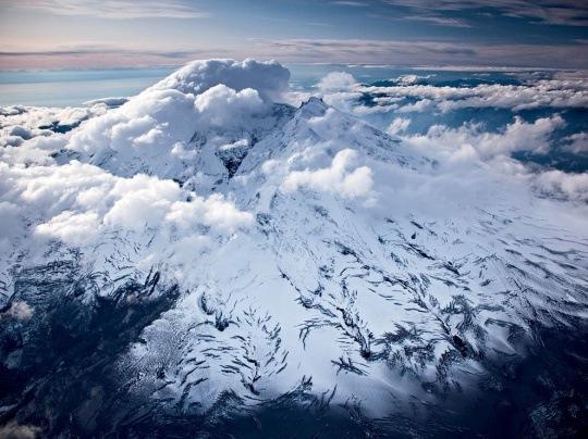 Iliamna Volcano, Alaska by Michael Melford