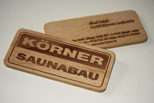 Korner Saunabau Cards for your Business