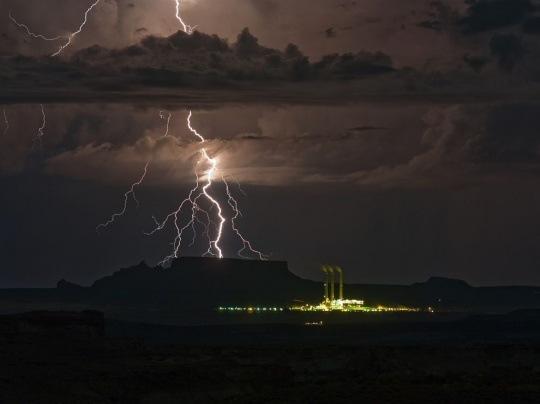 Lightning, Utah-Arizona Border by David Rankin
