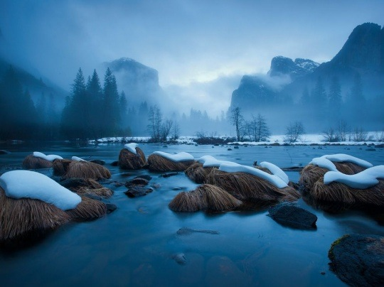 Merced River, Yosemite by Michael Melford