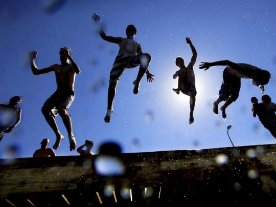Pier Jump, Australia by Alex Coppel