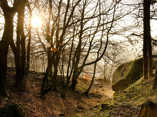 Rock Climber, Peak District by Nick Brown
