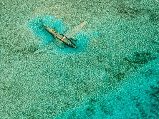 Submerged Plane, Bahamas by Bjorn Moerman