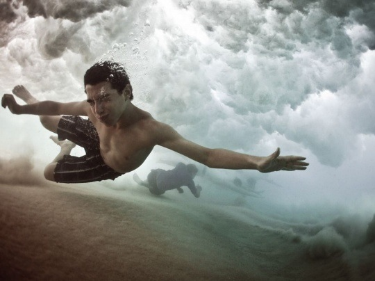 Swimmer, Coogee Beach by Mark Tipple