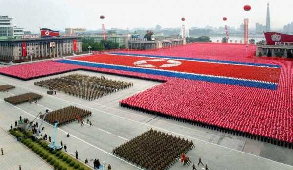 The North Korean military parades