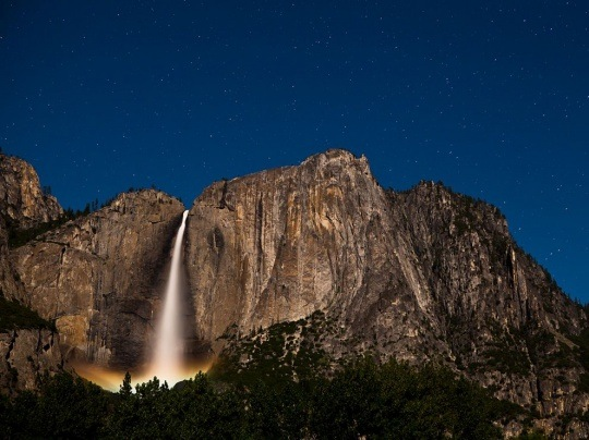Upper Yosemite Falls, California by Andrew Coffing