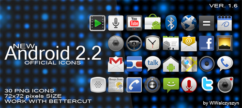 Android 2.2 Official Icons Set